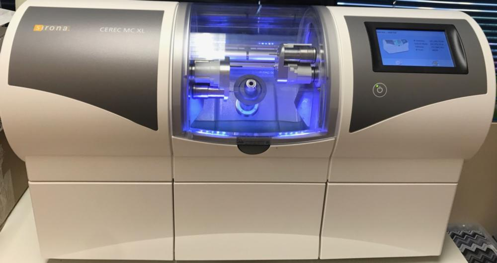 the crown-making part of our cerec crown machine | dental crowns vienna va