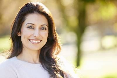 woman smiling with invisalign clear braces in vienna va