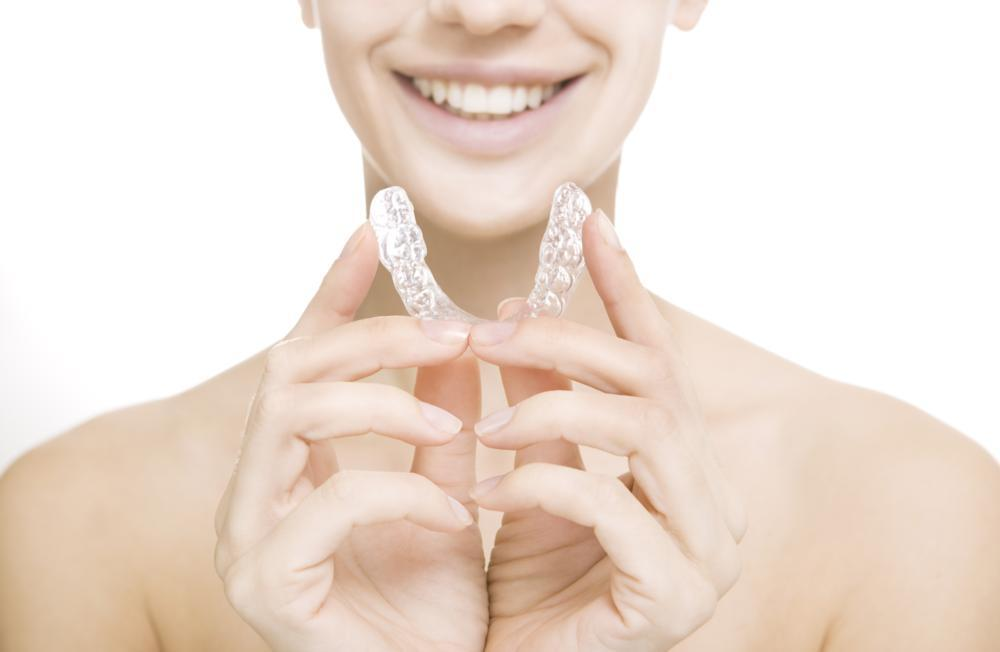 girl with invisalign clear braces in vienna va