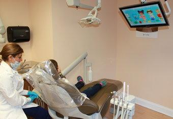 a child is cared for in our dental office | Kid-Friendly Dental Care Vienna VA