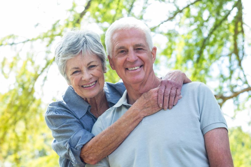 Older Couple Smiling | Dentures in Vienna VA
