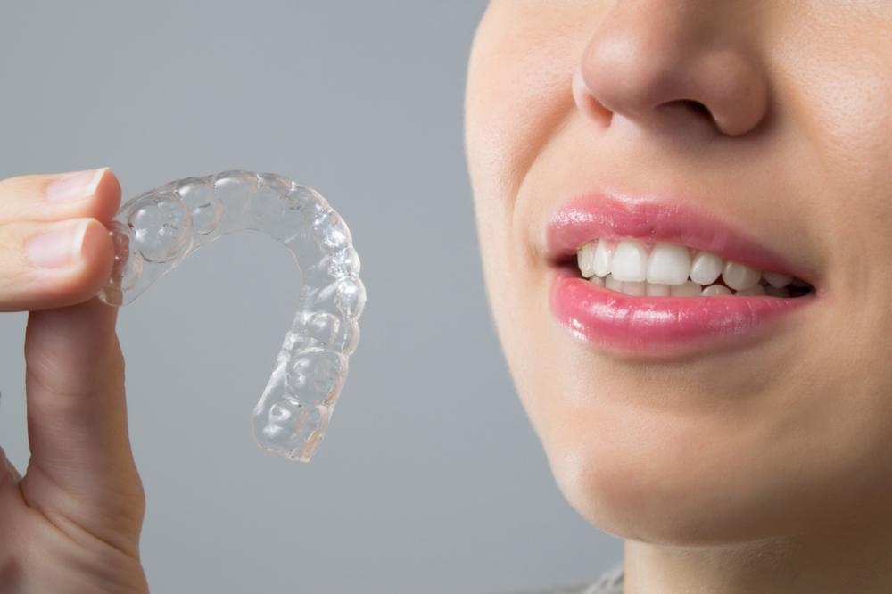 woman with Invisalign in vienna va